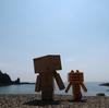 泊村 小さな入り江の弁天島