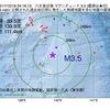 2017年10月16日 04時16分 八丈島近海でM3.5の地震