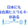 日本にも駐在員ヒエラルキーがある