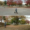 久しぶりの公園遊びにハシャぐ長男4歳