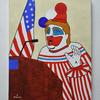 風刺的にアメリカ大統領モチーフで絵を描きました