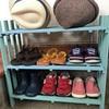 100均アイテムで靴棚製作。靴は綺麗に並べましょう