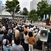 9日、志位和夫委員長の街頭演説に700人