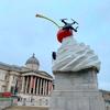 【特大クリーム!】トラファルガー広場の彫刻と最近のロンドン
