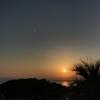 日の入りを観察して太陽の大きさを計算してみた