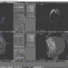 HoloLens特化のホロ恋子モデルを作成する その18(アホ毛のモデリングと面の表裏)