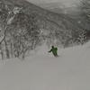 北海道の雪山バックカントリースキー