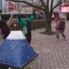 第1回パレード、 蒲田駅前で、勇気100%っ!!!!⭐️