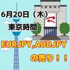 【6/20東京時間】クロス円の売り戦略!!