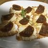 柚餅子とクリームチーズのカナッペ