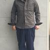 DELUXEWARE 定番タイトショートなデニムシャツをベースにした 黒、白、濃グレーが織りなす撚杢素材の限定ブラックシャンブレーシャツ(^^b