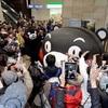 くまモンの巨大オブジェ 熊本市などで誕生祭