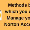 Methods by which you can Manage your Norton Account