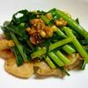 鶏肉とニンニクの芽とニラのスタミナ炒め