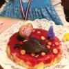4歳の誕生日を手作りケーキで表現する