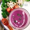 簡単☆とろーり生姜入り紫芋のポタージュ