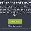 Humble Storeでヘビアクションゲーム「Snake Pass」のSteamキーを無料配布中