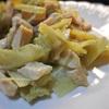 ウドと鶏ハムのサラダ、ハニー味噌風味