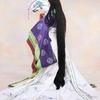 十二単を纏う女人と扇子