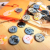 3Dプリントフィラメントのゴミでボタンを作った