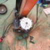 薪割り機の修理 モーターファンの修理