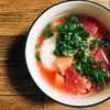 わらしべピンク色のスープ