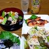 筑前煮☆〆鯖☆きのこご飯☆昼飲み