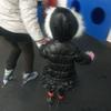 スケートに挑戦してみたが、4歳児には厳しかったか・・・(富山に帰省中)