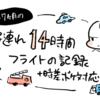 【1才7ヶ月】海外14時間子連れ飛行機の記録+時差ボケ対応