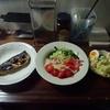 今日の晩御飯は冷やし中華と、ごまさばの塩焼き、ポテトサラダでした。