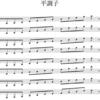 平調子の調弦を五線譜で書くとき、なぜ書き方が統一されていないのだろう?