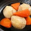 本日の献立は無農薬里芋の煮物と抹茶白玉ぜんざい