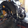 #バイク屋の日常 #カワサキ #250TR #タイヤ交換 #ダンロップ #110/90-18