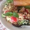なんちゃって地中海料理~サラダ風タブレ(冷たいクスクス)