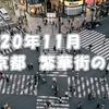 2020年11月、東京都の繁華街の人出