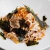フライドオニオンと韓国海苔の肉和え蕎麦のレシピ