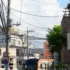 梅雨明けに東横線上り電車を撮る