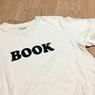 世界で一番美しい書店に選ばれた本屋さんで買ったシンプルな「BOOK」Tシャツ。