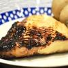 豊洲の「米花」で銀だら西京焼き、白バイ貝、雲丹とろろ。