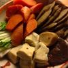 炊き合わせ、ルタバガ味噌汁と鯖と根菜の味噌煮で根菜尽くしの食卓