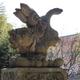 荒川神社の逆立ち狛犬