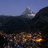 【スイス】 マッターホルンとツェルマットの夜景とモルゲンロートが撮影できるポイントの紹介