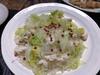 レタスとプレーン鶏と春雨の炒め煮