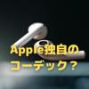 やはりAppleは,ロスレス対応の独自コーデックを用意している?
