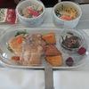 【JAL】ドメ線Fの機内食で新潟米の新之助提供