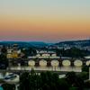 気分転換にカレル橋の夜景写真でも撮りに行ってみる