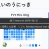 Pixela v1.12.0 から可能になった機能で、草グラフに付加情報を表示させる