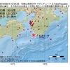 2016年09月16日 10時24分 和歌山県南方沖でM2.7の地震