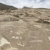 Why someone added new petroglyphs!