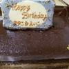 ちょっと遅れた BIRTHDAY CAKE